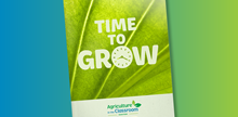 "Picture of annual report cover ""Time to Grow"""